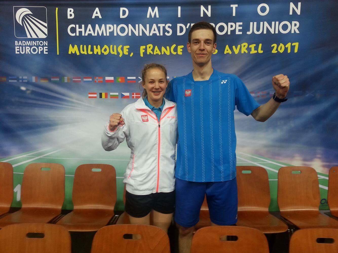Paweł Śmiłowski, zawodnik UKS Hubal Białystok wywalczył 2brązowe medale na ME juniorów wbadmintonie