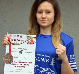 Sara Domagała z brązowym medalem Mistrzostw Polski Seniorek w Boksie