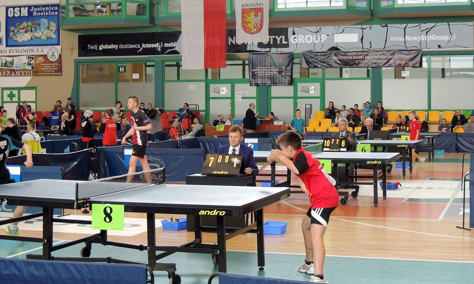 8 medali zdobyli zawodnicy znaszych klubów na Indywidualnych iDrużynowych Mistrzostwach Polski wTenisie Stołowym młodzików