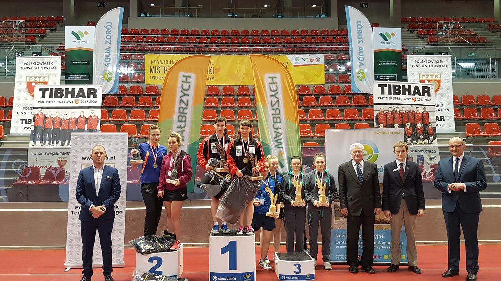12 medale naszych juniorów naMistrzostwach Polski wTenisie Stołowym