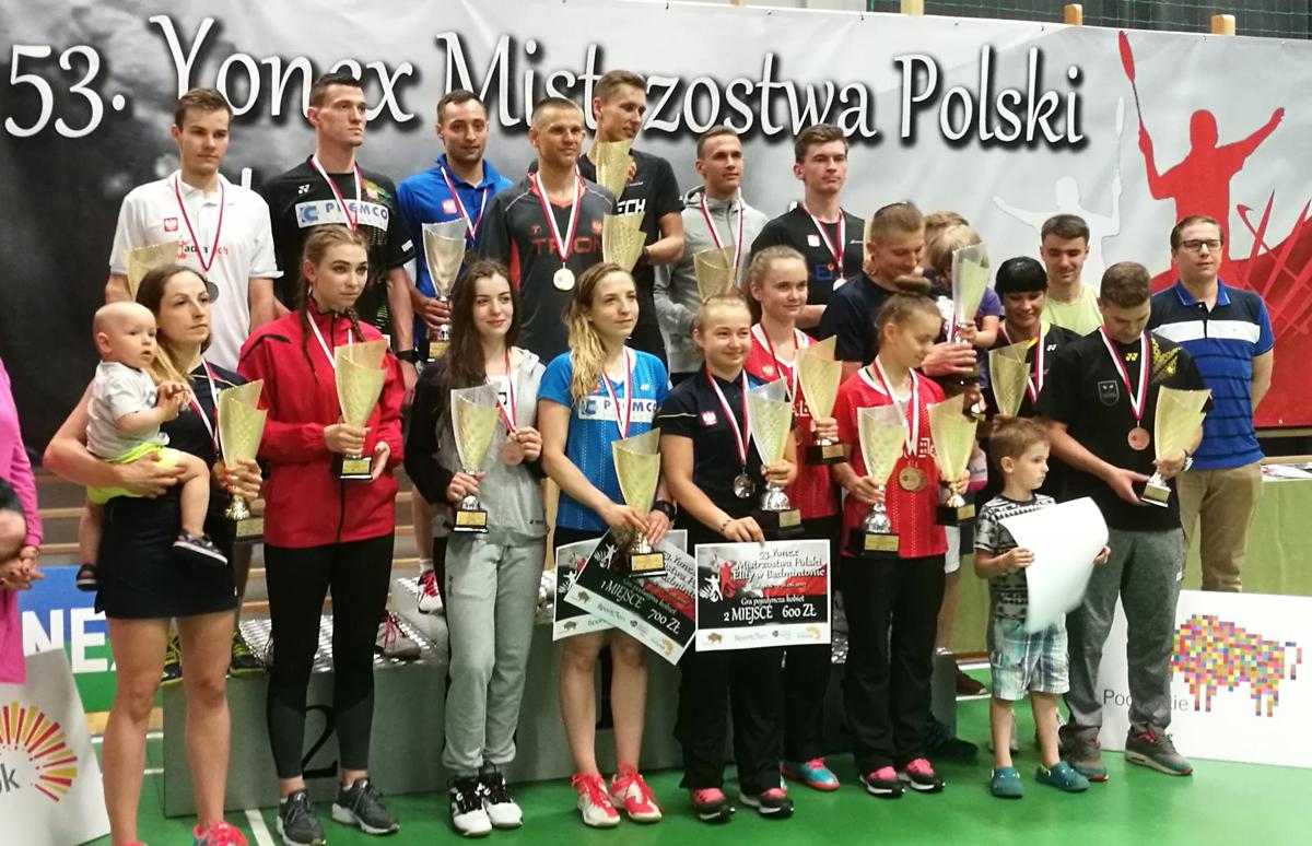 12 medali zdobyli zawodnicy zklubów Zrzeszenia LZS na 53.Yonex Indywidualnych Mistrzostwach Polski Elity wBadmintonie