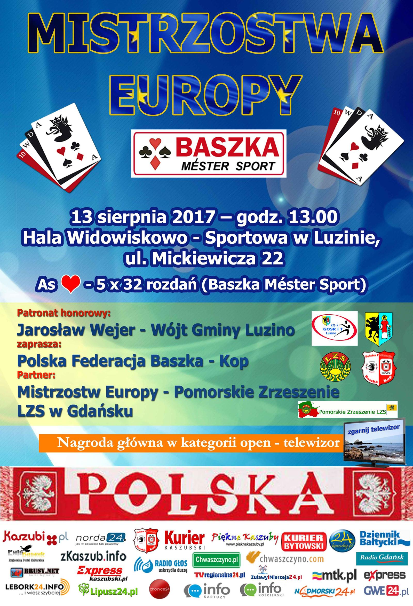 Luzino zaprasza na Mistrzostwa Europy w… Baśkę