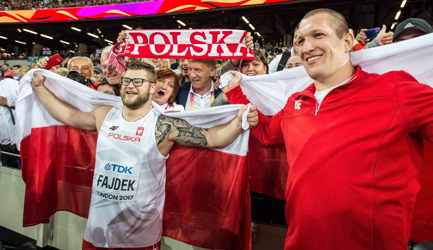 Paweł Fajdek — złoto, Kamila Lićwinko iWojciech Nowicki — brąz na Mistrzostwach Świata wLekkiej Atletyce