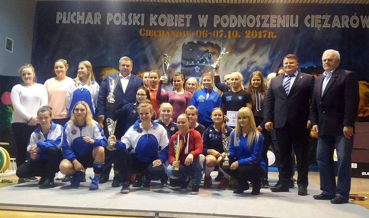 CLKS Mazovia Ciechanów wygrała Drużynowy Puchar Polski wpodnoszeniu ciężarów kobiet