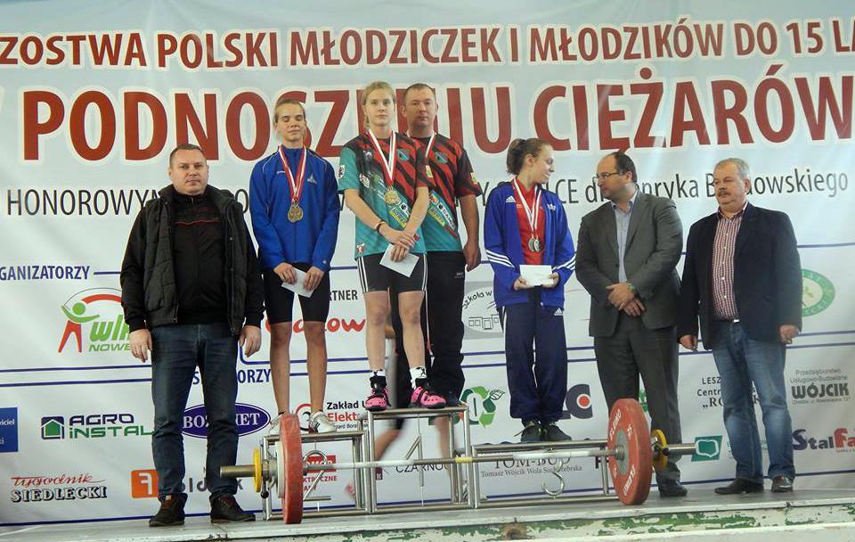 Mistrzostwa Polski Młodzików (U-15) wpodnoszeniu ciężarów — 39 medali naszych zawodników