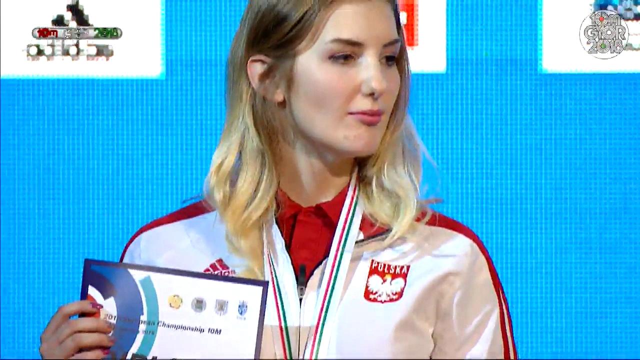Katarzyna Komorowska zdobyła srebrny medal strzeleckich Mistrzostw Europy
