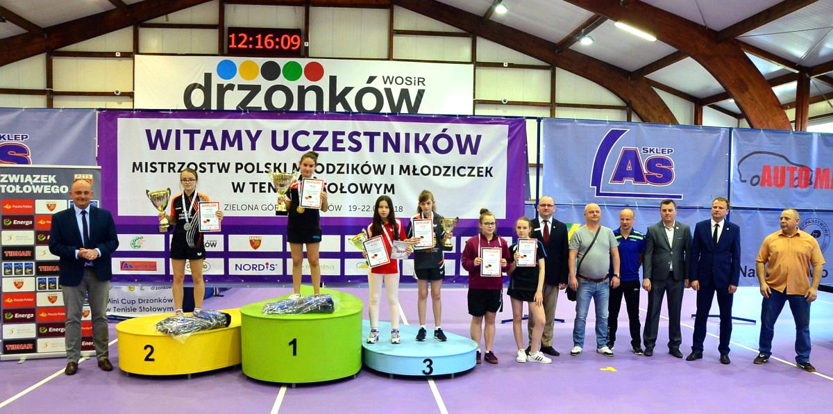 8 medali naszych zawodników na Mistrzostwa Polski Młodzików wtenisie stołowym