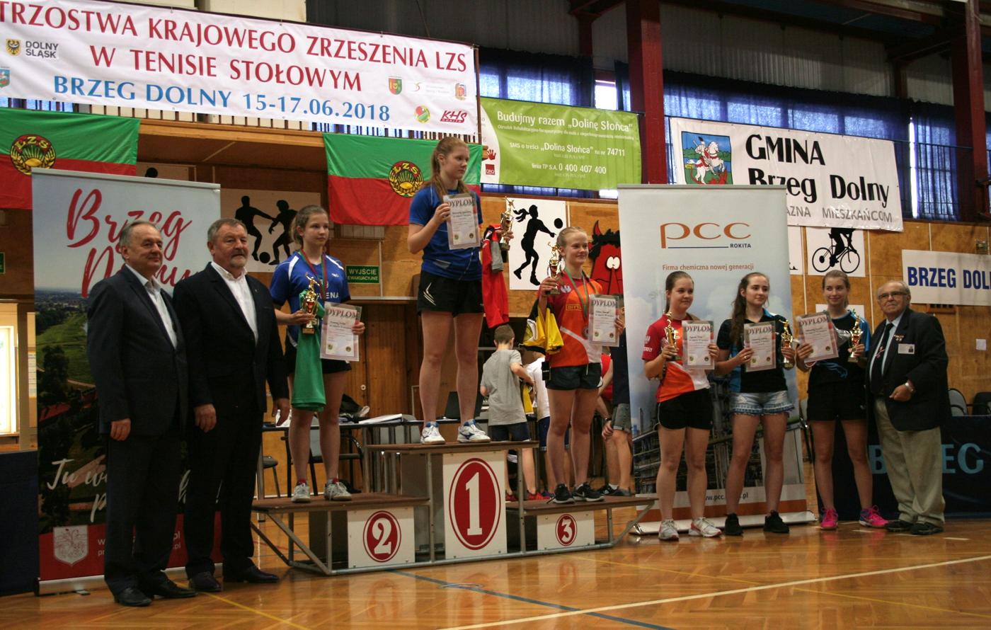 Mistrzostwa Krajowego Zrzeszenia LZS wTenisie Stołowym —Brzeg Dolny 2018