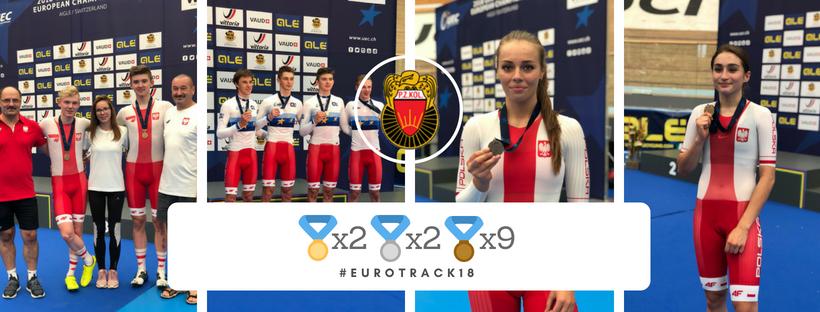 13 medali na ME juniorów imłodzieżowców wkolarstwie torowym zdobyli zawodnicy znaszych klubów