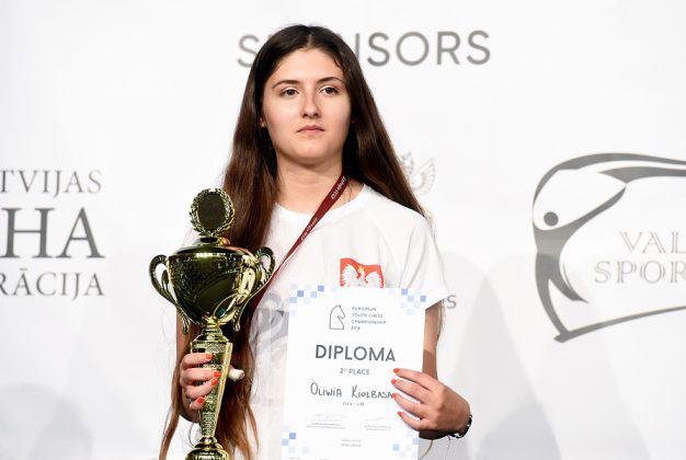 Oliwia Kiołbasa wicemistrzynią Europy U18 wszachach
