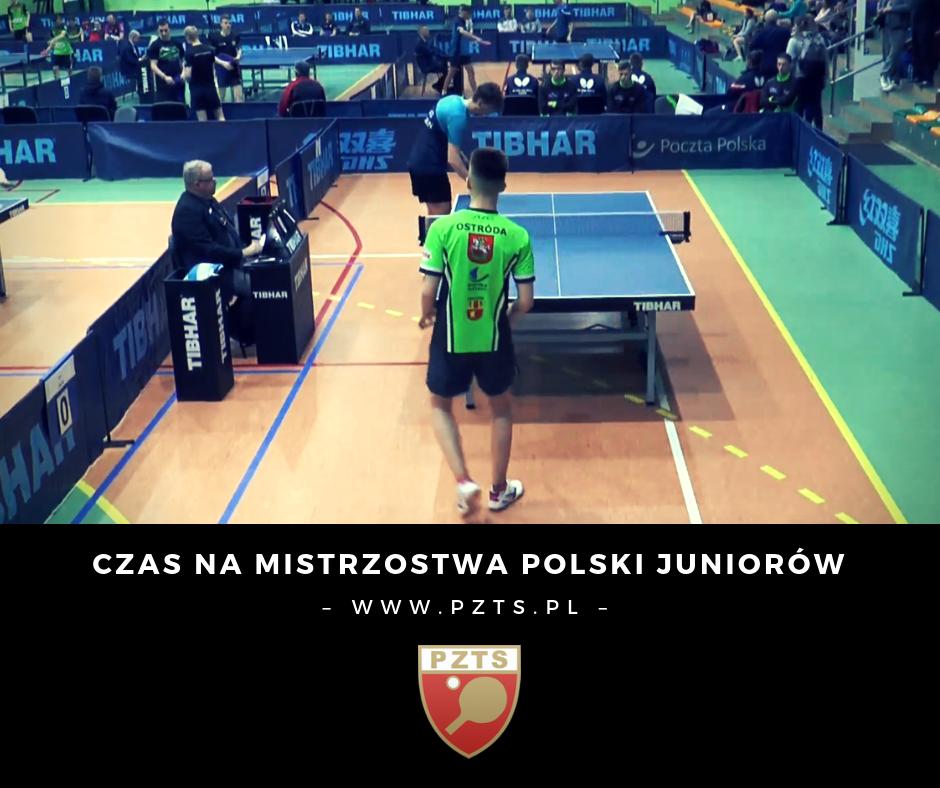 8 medali zdobyli nasi zawodnicy na Mistrzostwach Polski juniorów wtenisie stołowym