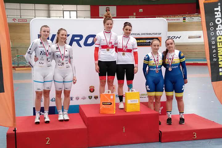 Młodzieżowe Mistrzostwa Polski wKolarstwie Torowym mistrzostwami naszych klubów — na 72 medale zdobyliśmy 70!