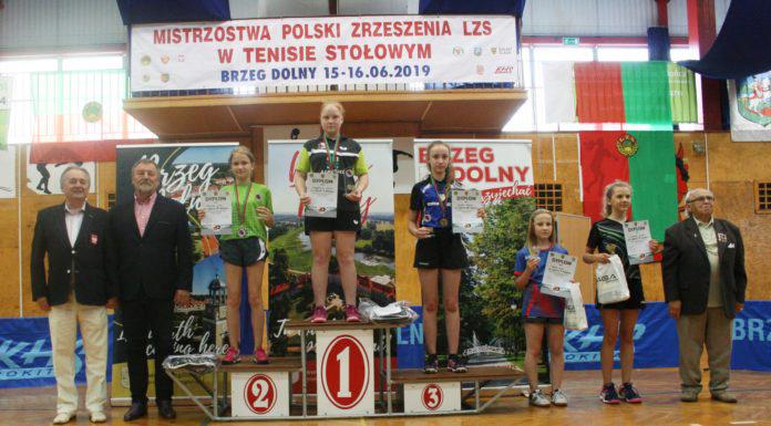 Mistrzostwa Krajowego ZrzeszeniaLZS wTenisie Stołowym — Brzeg Dolny2019
