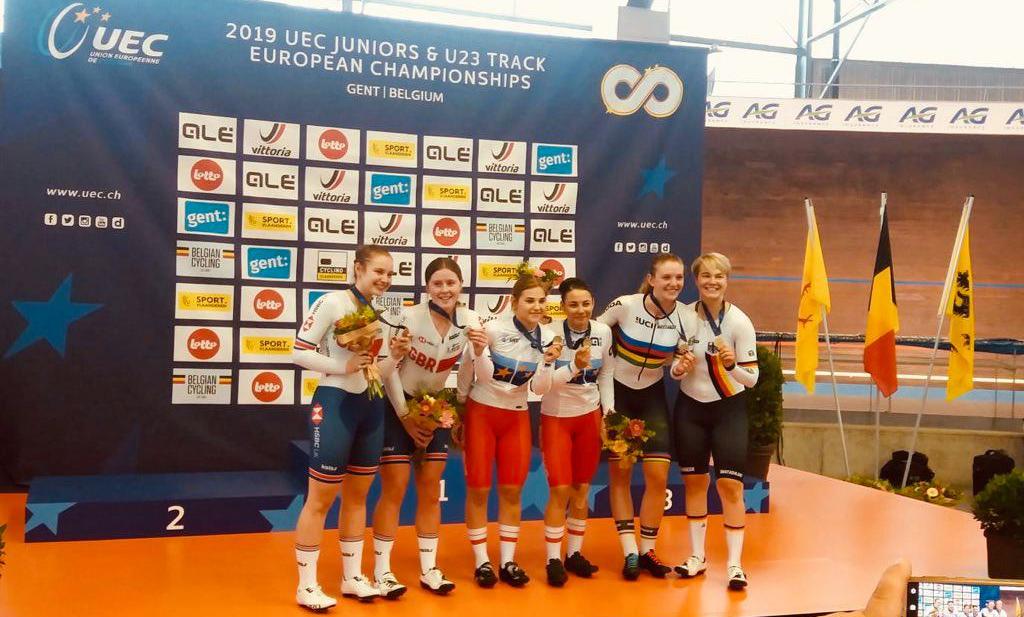 9 z 10 medali zdobyli nasizawodnicy naMłodzieżowychMistrzostwachEuropy wkolarstwie torowym