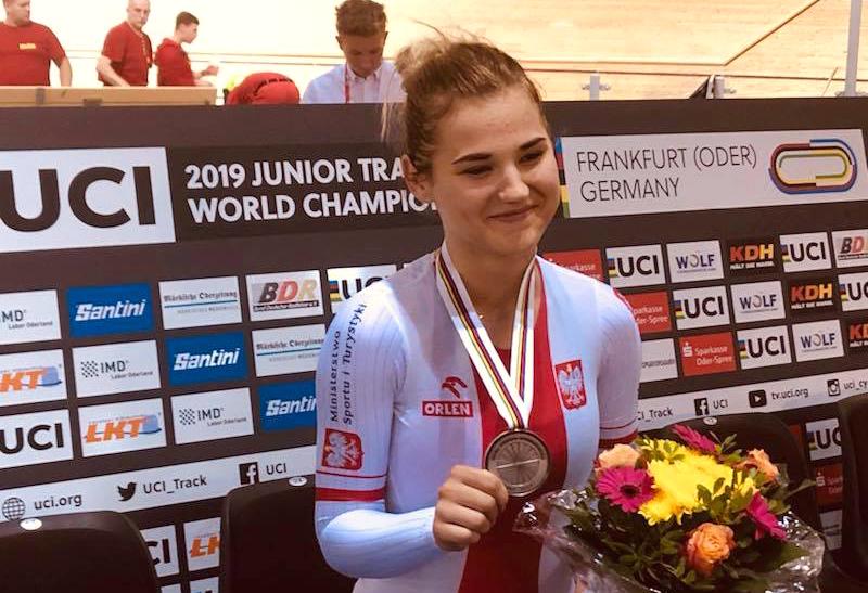 Trzy medale Nikoli Seremak na MistrzostwachŚwiataJuniorów wkolarstwie torowym