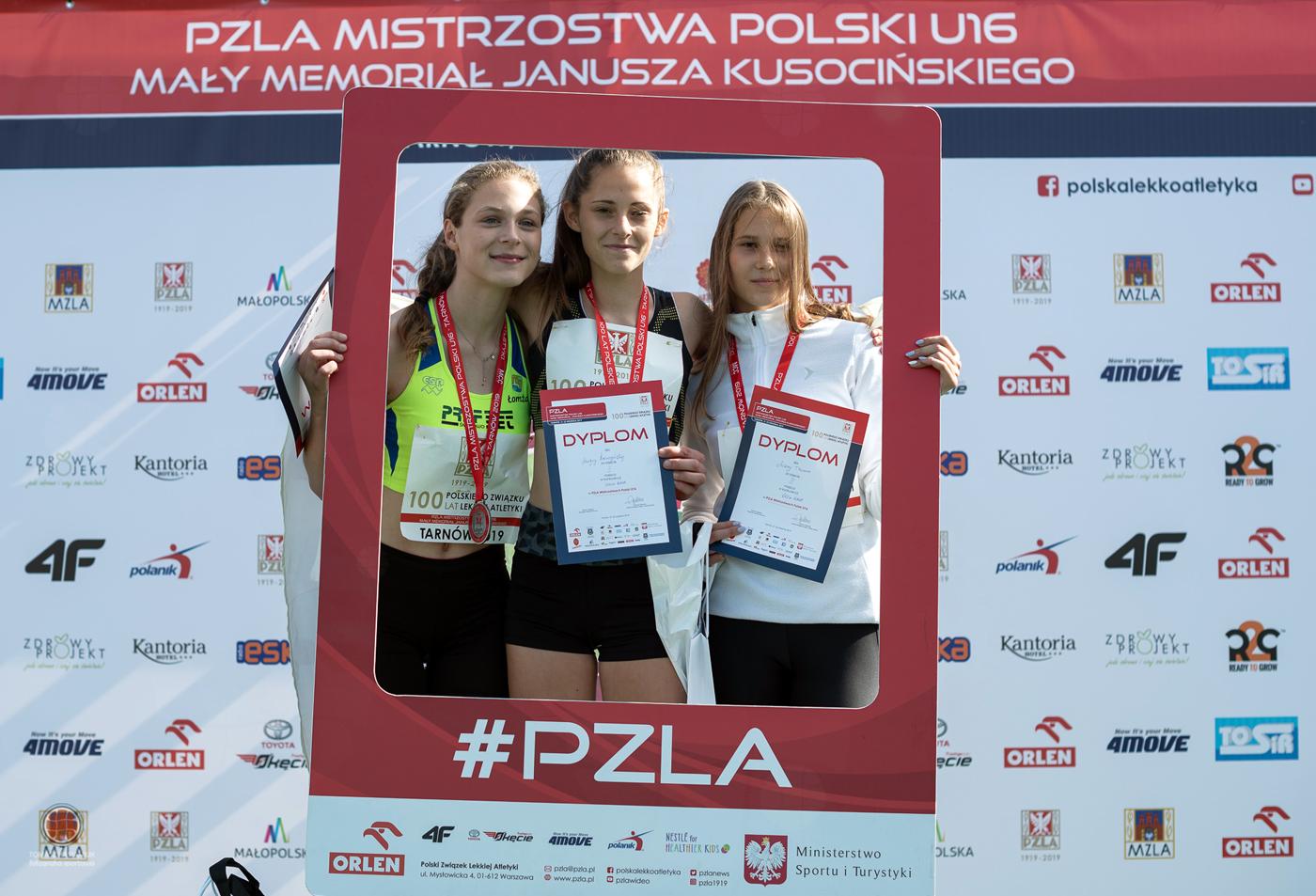 33 medale zdobyli zawodnicy znaszych klubów naPZLA MistrzostwachPolskiU16