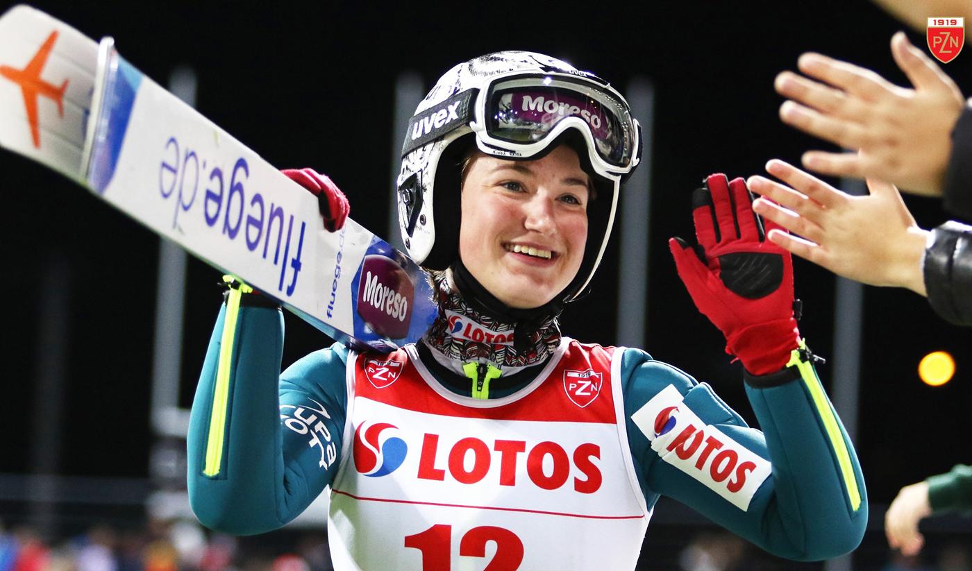 Kinga Rajda pobiła rekord Polski wskokach narciarskich na PucharzeŚwiata